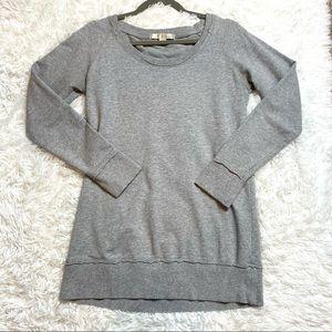 Boston Proper Grey Lightweight Crewneck Sweatshirt